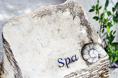 Textboard for spa. Space for text royalty free stock photos
