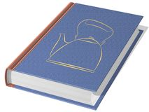 Textbook. The image of the textbook with stamped figure of a kettle Royalty Free Illustration