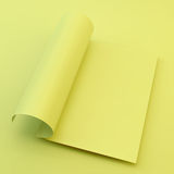 Textbook, Booklet or Notebook Mockup. A4 business blank. Stock Photography