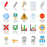 Textbook icon set. Education, economics. No gradient is used Royalty Free Stock Photo