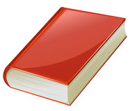 Textbook with red covers. Illustration Stock Image