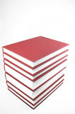 Textbooks. A stack of textbooks on a neutral background Royalty Free Stock Photography