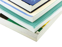 Textbooks. Photo of a stack of textbooks isolated on white Royalty Free Stock Photos