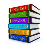 Textbooks. European language textbooks (done in 3d Vector Illustration