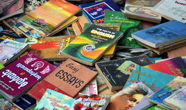 Textbooks on the English language Royalty Free Stock Photo