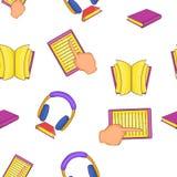 Textbooks pattern, cartoon style Stock Photo