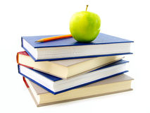 Textbooks stacked Royalty Free Stock Photography