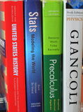 School Textbooks Stock Photo