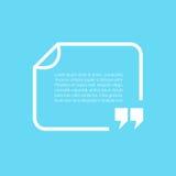 Textbox white frame Stock Images