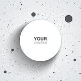Textboxdesign auf Schmutzhintergrund Lizenzfreies Stockbild