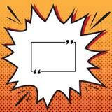 Textcitationsteckentecken vektor Komikerstilsymbol på pop-konst bakgrund royaltyfri illustrationer