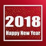 Textdesign des guten Rutsch ins Neue Jahr 2018 Vektor 2018 guten Rutsch ins Neue Jahr- und Weihnachtselemente Lizenzfreies Stockfoto