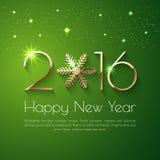 Textdesign för lyckligt nytt år 2016 Arkivfoton