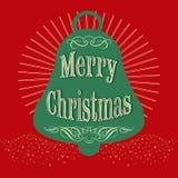 Textdesignillustration der frohen Weihnachten lizenzfreies stockfoto