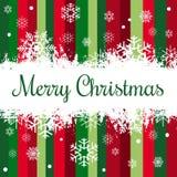 Textdesignillustration der frohen Weihnachten stockfoto