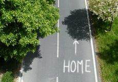 Texte à la maison de route Image libre de droits
