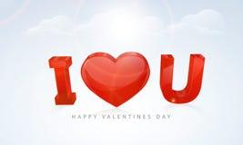 Texte élégant pour des célébrations heureuses de Saint-Valentin Photographie stock libre de droits