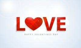 Texte élégant pour des célébrations heureuses de Saint-Valentin Images stock