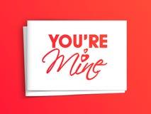 Texte élégant pour la célébration heureuse de jour de valentines Image libre de droits