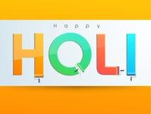 Texte élégant pour le festival indien, célébration de Holi Photos libres de droits