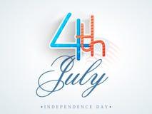 Texte élégant pour le Jour de la Déclaration d'Indépendance américain Image libre de droits