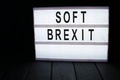 """texte """"de brexit mou """"dans le lightbox image libre de droits"""
