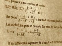 Texte abstrait mathématique Photographie stock