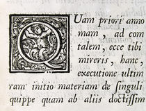 Texte antique image stock