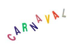 Texte brésilien de carnaval Photos stock