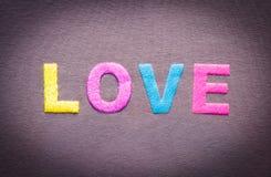 texte coloré de l'amour Photographie stock libre de droits