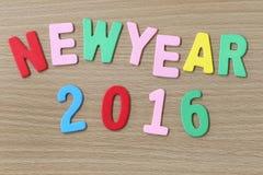 Texte coloré de nouvelle année Photographie stock libre de droits