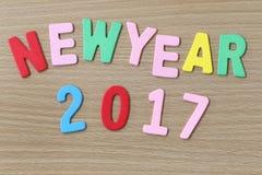 Texte coloré de nouvelle année Photographie stock