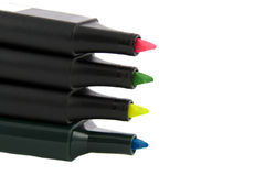 texte coloré de quatre repères de barre de mise en valeur Image stock