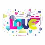 Texte coloré pour la célébration de jour du ` s de Valentine Image libre de droits