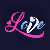 Texte coloré pour la célébration de jour du ` s de Valentine Photo stock