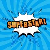 Texte comique de superstar Images libres de droits