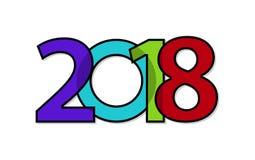 Texte créatif 2018 illustration de vecteur
