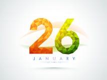 Texte créatif pour la célébration de jour de République Photographie stock