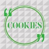 Texte d'écriture écrivant des biscuits Concept signifiant le petit gâteau augmenté de biscuit de dessert de casse-croûte délicieu illustration de vecteur