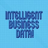 Texte d'écriture écrivant des données commerciales intelligentes Concept signifiant l'utilisation des données internes d'analyser illustration libre de droits