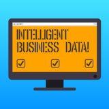 Texte d'écriture écrivant des données commerciales intelligentes Concept signifiant l'utilisation des données internes d'analyser photos stock