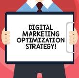 Texte d'écriture écrivant Digital lançant la stratégie sur le marché d'optimisation La publicité de médias sociale de significati illustration de vecteur