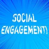 Texte d'écriture écrivant l'engagement social Le courrier de signification de concept obtient de hautes annonces SEO Advertising  illustration de vecteur
