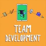 Texte d'écriture écrivant Team Development La signification de concept apprennent pourquoi et comment les petits groupes changent illustration de vecteur