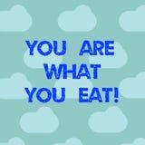 Texte d'écriture de Word êtes vous ce que vous mangez E illustration de vecteur