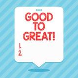 Texte d'écriture de Word bon à grand Concept d'affaires pour tout obtenant bien mieux obtenant le succès dans les projets illustration libre de droits