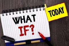 Texte d'écriture de Word ce qui si question Concept d'affaires pour quelle question moyenne demandent fréquemment l'aide résolvan Photos stock