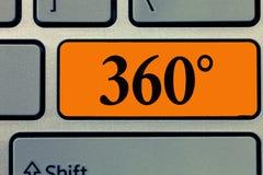 Texte 360 d'écriture de Word Concept d'affaires pour complet incorporant tous les points de vue capables tourner librement photographie stock