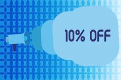 Texte 10 d'écriture de Word  Concept d'affaires pour la remise de dix pour cent au-dessus du dégagement de vente de promotion de  illustration libre de droits