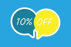 Texte 10 d'écriture de Word  Concept d'affaires pour la remise de dix pour cent au-dessus du dégagement de vente de promotion de  illustration de vecteur